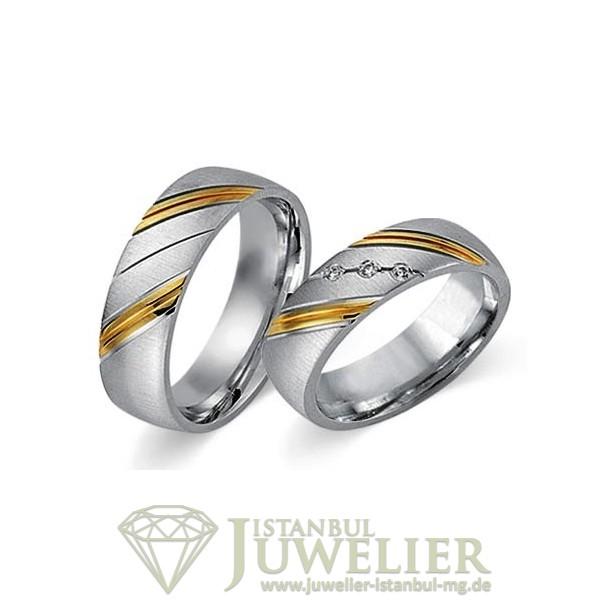 Juwelier Istanbul in Moenchengladbach Fides Kollektion Gold Trauringe - 8001