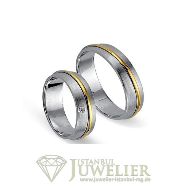 Juwelier Istanbul in Moenchengladbach Fides Kollektion Gold Trauringe - 8004