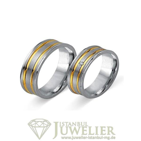 Juwelier Istanbul in Moenchengladbach Fides Kollektion Gold Trauringe - 8007