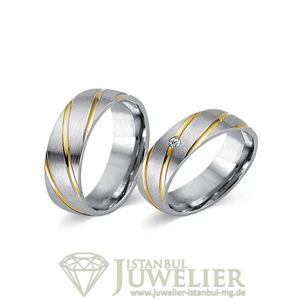 Juwelier Istanbul in Moenchengladbach Fides Kollektion Gold Trauringe - 8008