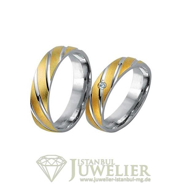 Juwelier Istanbul in Moenchengladbach Fides Kollektion Gold Trauringe - 8009