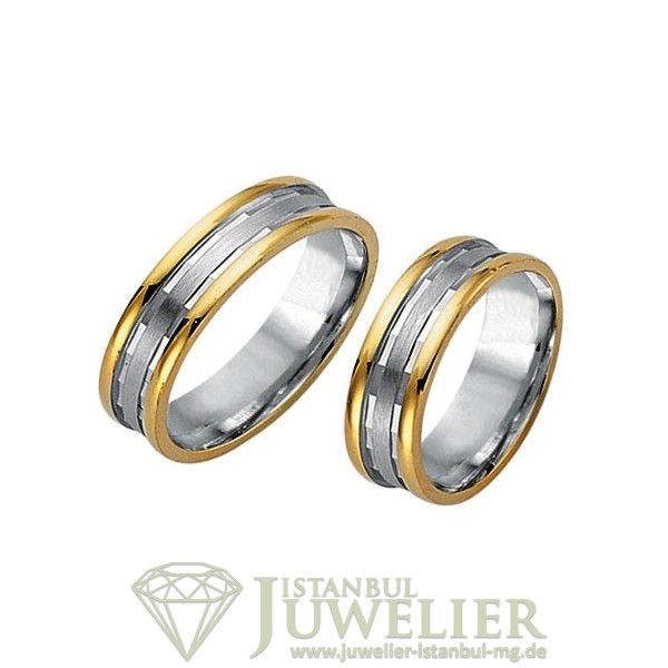 Juwelier Istanbul in Moenchengladbach Fides Kollektion Gold Trauringe - 8013